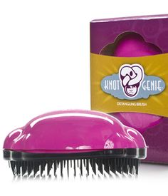 With the Knot Genie Detangling Brush, even the curliest, most knotted-up hair practically slips through the unique bristle configuration gently and painlessly. Detangling Hair Brush, Best Brushes, Hair Knot, Natural Hair Care, Natural Curls, Inventions, Bath And Body, Knots, Activities For Kids