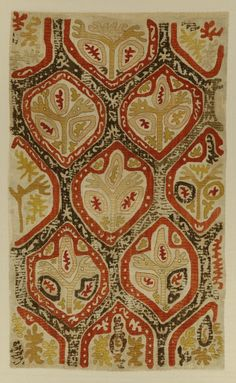 Silk embroidered kaitag, North East Caucasus, Dagestan, 18th c.