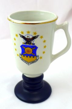 Pedestal Mug AFIT Air Force Institute of Technology Stoneware 22 kt. gold trim