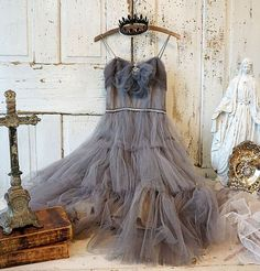 Check out French Nordic tulle dress wall hanging art shabby cottage chic decoration one of a kind farmhouse gray home decor anita spero design on anitasperodesign Tulle Lace, Tulle Dress, Grey Home Decor, Shabby Chic Cottage, Hanging Art, Decoration, Frames On Wall, Design Inspiration, Wall Hangings