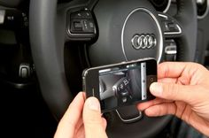 Audi eKurzinfo Smartphone App Replaces Car Manual With Augmented Reality - The new Audi eKurzinfo augmented reality application guides you through how to use specific areas of the car using the smartphones camera and screen.  | Geeky Gadgets