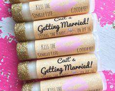 50 Personalized Lip Balms. 21 Scents. Bulk Wedding by SensiblyPosh