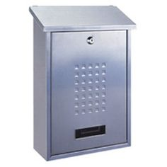 Rottner Lignano Silver Steel Mail Box.   A functional letterbox made from high quality steel with a silver finish. #Rottner #Lignano #Mailbox #Postbox #Silver #Steel  http://www.littlesafe.co.uk/shop/