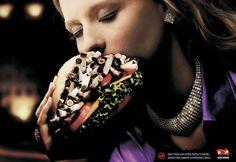 burger, swallow, marketing, add, smoking, cigarette