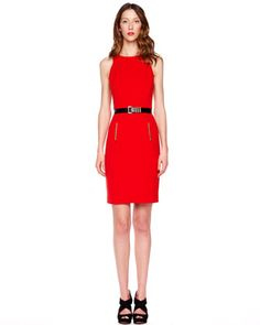 Belted Crepe Dress by MICHAEL Michael Kors at Neiman Marcus.