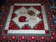 "Alabama Football Helmet Ball Applique Baby Wall Quilt Top 41.5"" x 42"" | eBay"