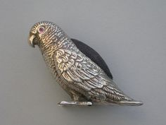 George V Novelty Silver Parrot Pin Cushion