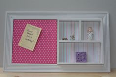 Two square mix and match memo board with shadow box