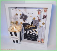 Viel Spaß im Kino! Gutschein mal anders For going to the cinema The post Viel Spaß im Kino! Gutschein mal anders appeared first on Cadeau ideeën. Easy Diy Gifts, Creative Gifts, Homemade Gifts, Diy Birthday, Birthday Presents, Boyfriend Gifts, Shadow Box, Diy And Crafts, Gift Ideas