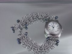 Chainmail Watch by RingedDesigns on Etsy, $27.98