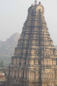 india history | Tumblr  The Virupaksha Temple in Karnataka, southern India. Commemorating her husbands' victory over the Pallavas of Kanchipuram, the temple was built by Lokamahadevi, the Queen of Vikaramaditya II, about 740 AD.  Photos taken by Andrea Kirkby.