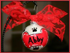 Pet Ornament...I plan to make each of my furbabies one in colors that will match my decor!
