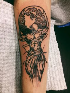 "My tattoo Atlas or ""Atlante"" (Ἄτλας). Was a Titan condemned to hold up the sky for eternity after the Titanomach."