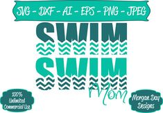 Swim Mom SVG - Swimming SVG - Chevron SVG - Swim Team svg - Mom svg - Files for Silhouette Studio/Cricut Design Space. You can resize, break apart layers, change colors, etc. to fit your project needs. You will receive 1 zip file that contains 1 each of the following files; SVG, Swim Team Mom, Swim Team Shirts, Circut Explore Air 2, Cricut Explore, Swim Logo, Cricut Air 2, Polo Design, Synchronized Swimming, My Bubbles