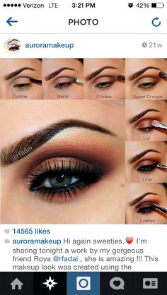 Copper smokey eye Great for blue and green eyes