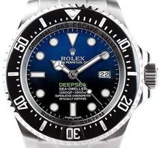 Rolex Sea-Dweller Deepsea 116660 with Custom Blue Dial Divers Watch