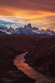 ~~Rio de las Vueltas and Cerro Fitzy Roy | just south of Los Glaciers National Park it is only about an hour and a half hike from the town of El Chalten, Argentina | by Andrew Waddington~~