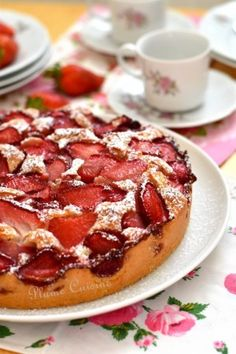 Gâteau aux fraises et citron vert