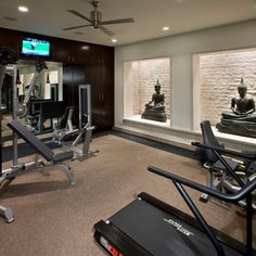 #Contemporary #home #gym #design. Check more at www.connecticutforsale.com