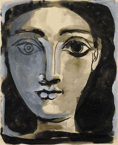 Pablo Picasso, Portrait de femme - 1945 on ArtStack #pablo-picasso #art