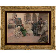 A Carpet Seller in a Souk in the Maghreb Original artwork by Gustavo Simoni (Rome 1902 water colour on board, 55 x 76 cm x 99 cm including frame) Available for viewing in Dubai on appointment. Part of MONDA Gallery and century ORIENTALIST COLLECTION Color Palate, Painting & Drawing, 19th Century, Rome, Original Artwork, Carpet, Paintings, Watercolor, Fine Art
