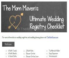 The MomMaven's Ultimate Printable Wedding Gift Registry Checklist-TheMomMaven.com