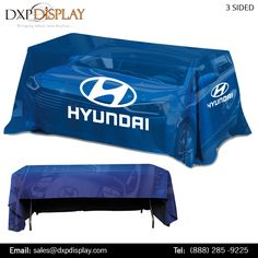 Trade Show Table Covers with Full Color Graphics. Available in Many Shapes, Sizes and Colors. Quick Turnaround Time.