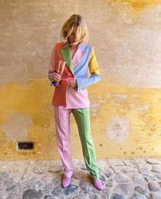Aesthetic Fashion, Urban Fashion, Look Fashion, Autumn Fashion, Colourful Outfits, Colorful Fashion, Suits For Women, Clothes For Women, Pastel Outfit