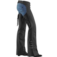 Icon Womens Hella Leather Chaps at www.motoworldracing.com