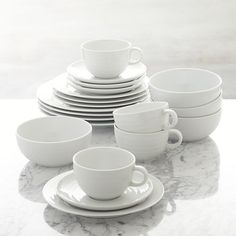 Roulette 20-Piece Dinnerware Set in Dinnerware Collections | Crate and Barrel