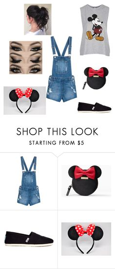 """""""DISNEY!!!!!"""" by cometgirlfresh ❤ liked on Polyvore featuring Kate Spade, TOMS and Topshop"""