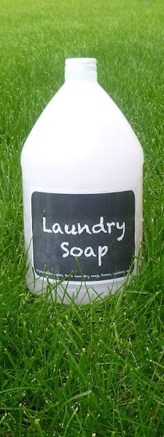 No-grate homemade liquid laundry detergent   Be It Ever So Humble