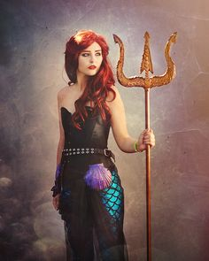 A pretty post apocalyptic Ariel cosplay. LOOK at that gorgeous trident! - 10 Little Mermaid Cosplays