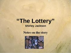 the dystopian society in shirley jacksons the lottery This bundled product contains two short story units: one for harrison bergeron by kurt vonnegut, and one for the lottery by shirley jackson these dystopian short a fun group activity that has students brainstorm how a dystopian society would try to solve some of our society's problems - a short story or.