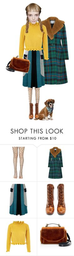 """""""Checking Those Boxes"""" by puellasum ❤ liked on Polyvore featuring Leg Avenue, Prada, Mary Katrantzou and Maje"""