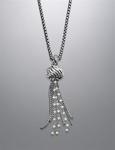 David Yurman Pearl Tassel Necklace.  This long tassel necklace would be super cute!