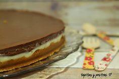 Tapitas y Postres: Tarta de crema de leche condensada y chocolate.