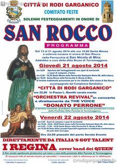 Festeggiamenti in onore di San Rocco - http://blog.rodigarganico.info/2014/eventi/festeggiamenti-in-onore-san-rocco/