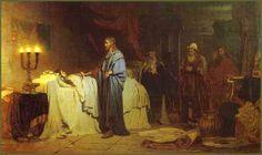 Ilya Répine  La résurrection de la  fille de Jairus   1871