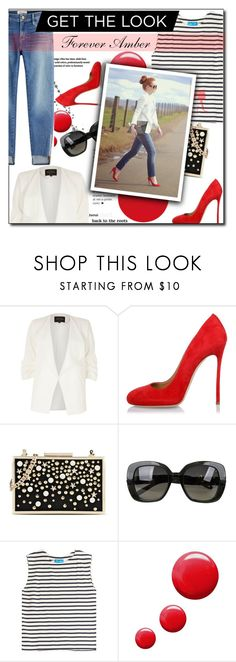 """Get the Look: Forever Amber"" by selena-gomezlover ❤ liked on Polyvore featuring River Island, Dsquared2, Karl Lagerfeld, Bottega Veneta, M.i.h Jeans, Topshop and Frame"