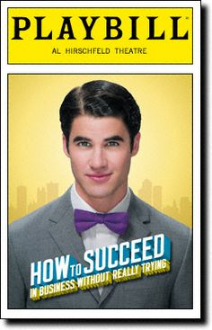 Darren Criss taking over for Daniel Radcliffe in How To Succeed In Business Without Really Trying