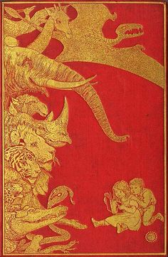 Henry Justice Ford , Cover design for The Crimson Fairy Book, Andrew Lang, 1903 Vintage Book Covers, Vintage Children's Books, Antique Books, Book Cover Art, Book Cover Design, Book Art, Illustration Art Nouveau, Children's Book Illustration, Jm Barrie
