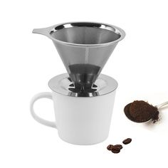 Cheap set smile, Buy Quality filter case directly from China filter ceramic Suppliers: Double stainless steel coffee filter cone portable reusable V-type mesh filter manual drip coffee maker tool sets fre