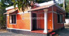 2 Bedroom Low Budget Home for Lakhs in 550 SqFt with Free Plan - Free Kerala Home Plans Low Budget House, Home Budget, Village House Design, Village Houses, Beautiful House Plans, Beautiful Homes, 2bhk House Plan, Bamboo Construction, Kerala Houses