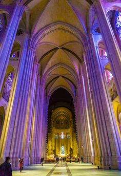 St. John the Divine in NYC is the biggest cathedral in North America, and the fourth largest church in the world!