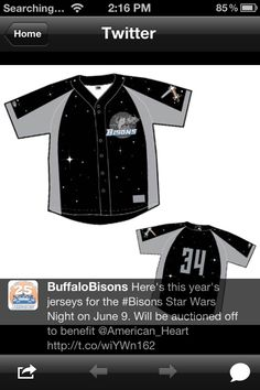 Bisons Star Wars jerseys