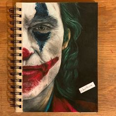 Joker Drawings, Cool Art Drawings, Colorful Drawings, Joker Painting, Cartoon Painting, Face Drawing Reference, Casa Anime, Picture Frame Art, Creation Art