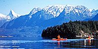 Kayaking on Vancouver Island