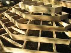 Cascading Deck Stair Structure
