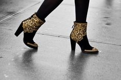 black and gold boots - damn